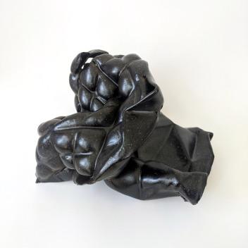 Carolie Parker Diamondback 2020 10 x 10 x 7 Inches Stoneware, matte black http://carolieparker.com/