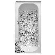 "Farnaz Shadravan Apocalypse 30""x 60""x 13"" Engraved bathtub http://farnazshadravan.com/"