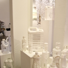 Hilary Norcliffe Jug City (2019) #2 white plastic bottles Variable dimensions http://hilarynorcliffe.com/